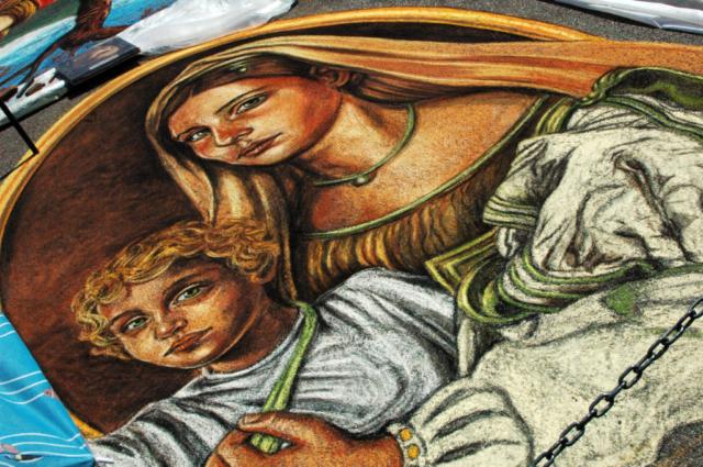 verabugatti madonnari grazie graziedicurtatone madonnaro artedistrada artistidistrada chalk chalkart gessetti gessetto pastel asphalt pavementart strassenmalerei sarasotachalk