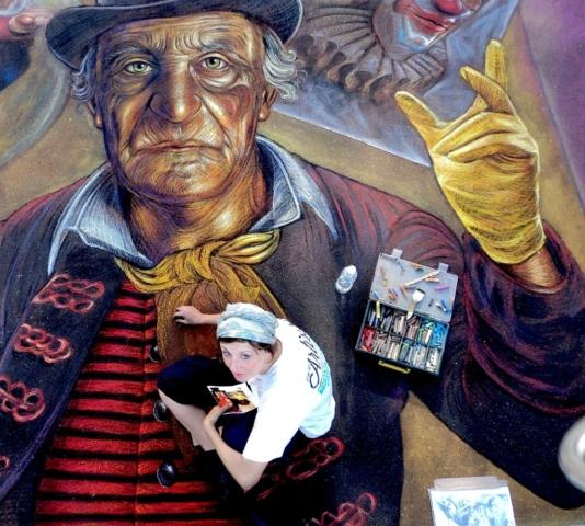 verabugatti madonnari grazie graziedicurtatone madonnaro artedistrada artistidistrada chalk chalkart gessetti gessetto pastel asphalt pavementart strassenmalerei sarasotachalkfestival