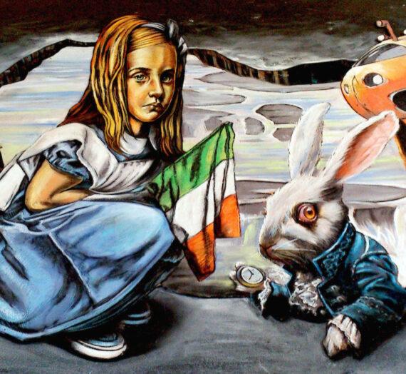 3D Pavement Art in Ireland again! Vera & Luigi at Wicklow Arts Fest 2014
