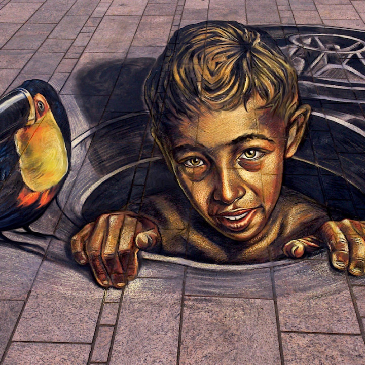 3D Street painting at Almere Street Fest 2014