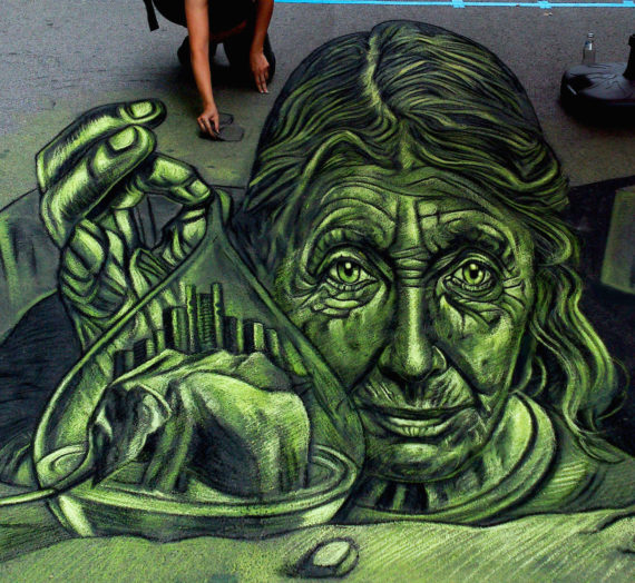 3D Street Art at Asphalt Oasen in Graz
