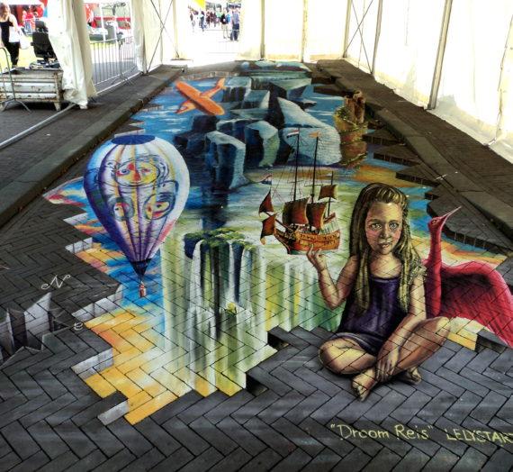 Big 3D StreetPainting at LelystART 2014!
