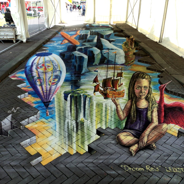 Big 3D StreetPainting at LelystART 2014!