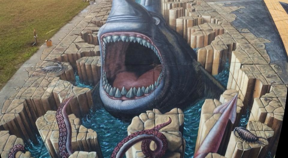 Guinness World Record for the Largest anamorphic Pavement Art!
