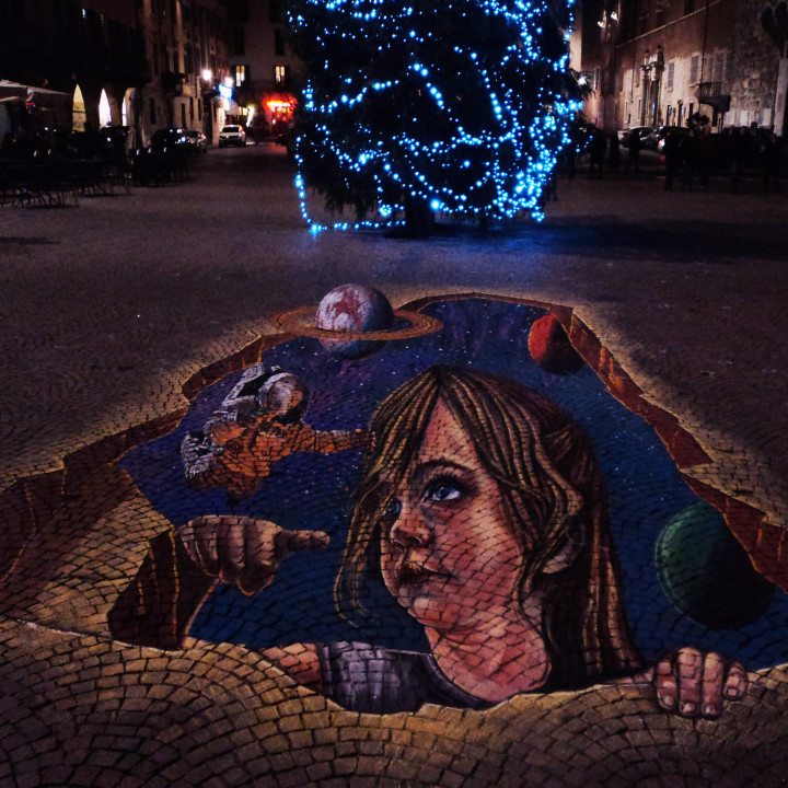 3D Pavement Art in Italy, Brescia!