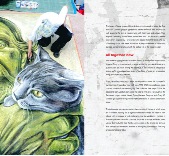 Featured in the book Street Art by Russ Thorne, London 2014!