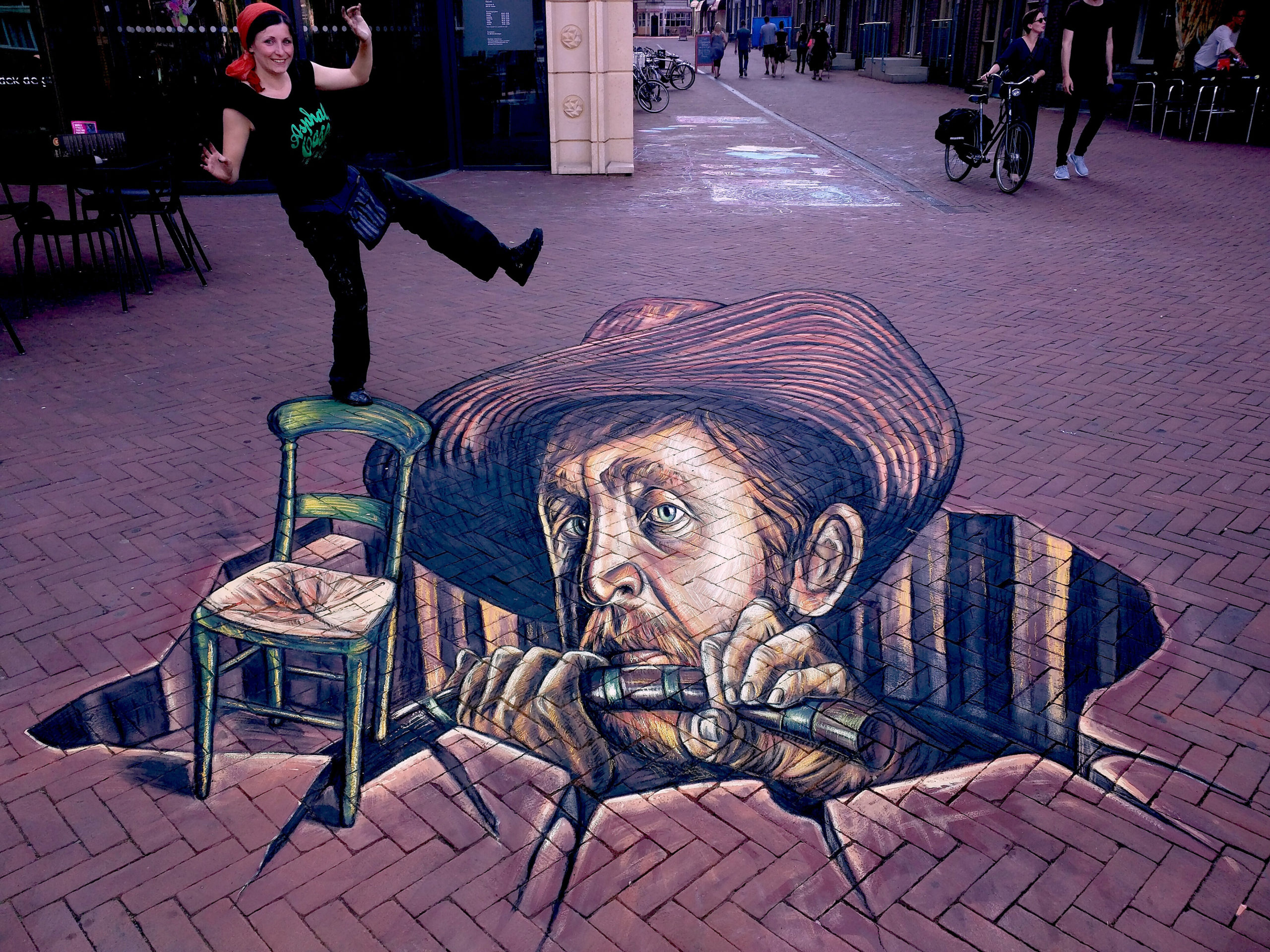 verabugatti streetart arteurbana illusioniottiche 3Dstreetart anamorfosi anamorfico anamorphic illusions urbanart madonnari3D pavementart 3Dstreetart 3Dstreetpainting environment thereisnotplanetb vangogh arnhem