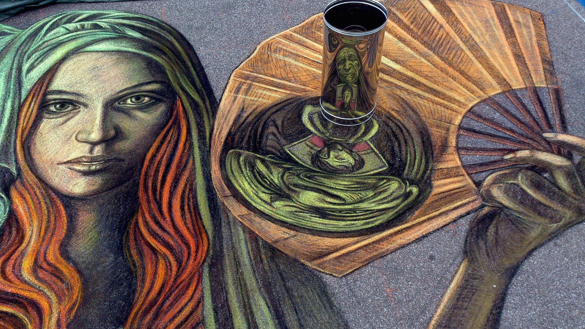 verabugatti madonnari grazie graziedicurtatone madonnaro artedistrada artistidistrada chalk chalkart gessetti gessetto pastel asphalt pavementart anamorfosi strassenmalerei