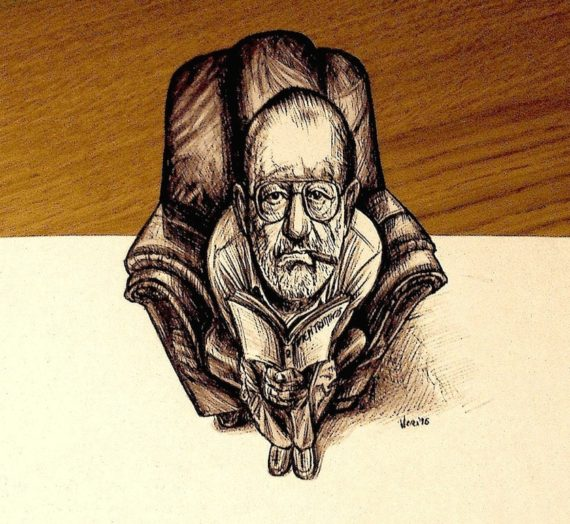 3D anamorphic tribute to the great Umberto Eco