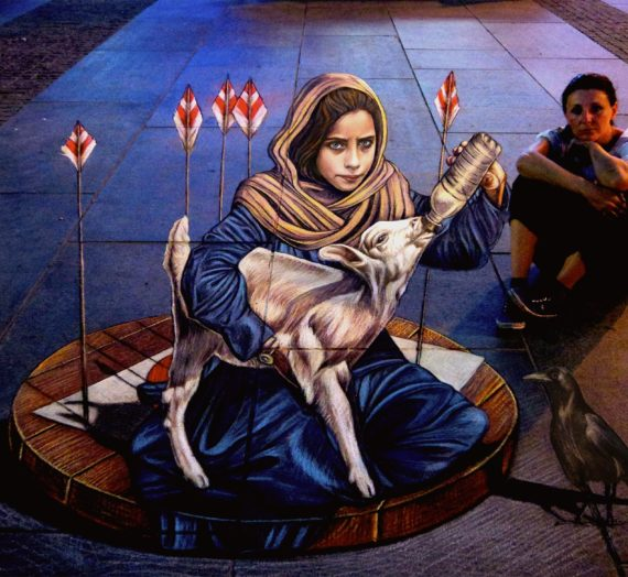 3D street art on Peace in Sarajevo