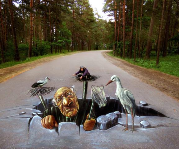 verabugatti streetart arteurbana Riga Latvia illusionsofriga rigailluzia crazy cicogne mezaparksillusioniottiche 3Dstreetart anamorfosi anamorfico anamorphic illusions urbanart madonnari3D pavementart 3Dstreetart 3Dstreetpainting environment thereisnotplanetb