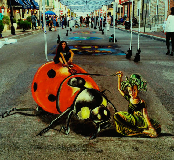 3D giant bug at Baltimora Arts festival