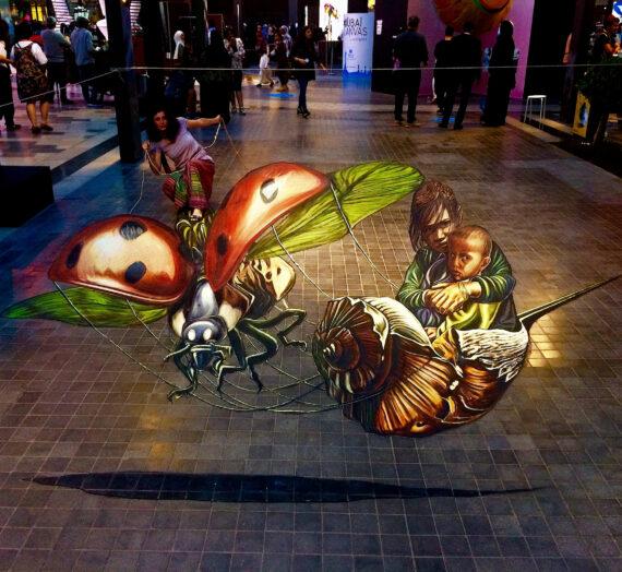 My pavement anamorphose at Dubai Canvas 3D award 2017