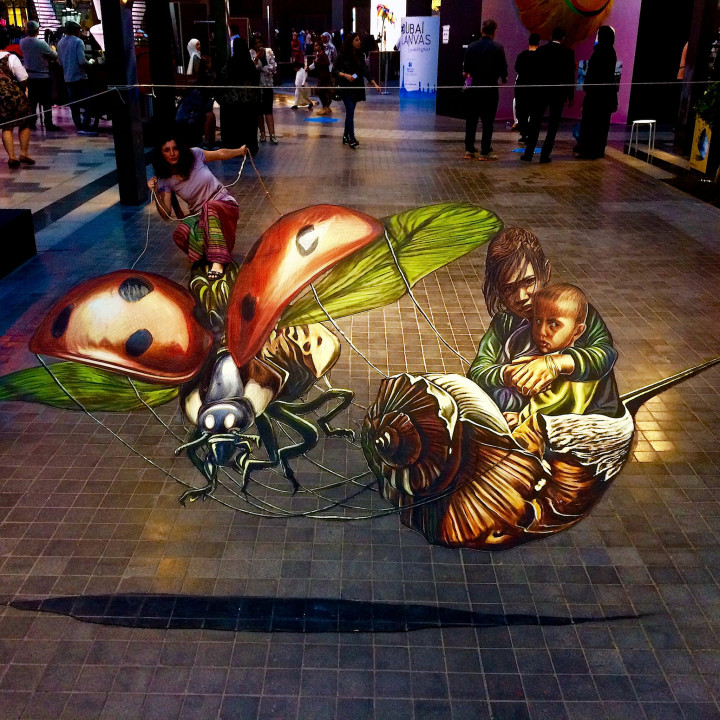 My pavement anamorphose at Dubai Canvas 3D award 2017