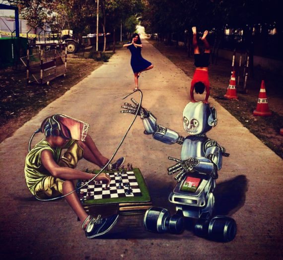 3D Art @ Techkriti '17! India's magic came