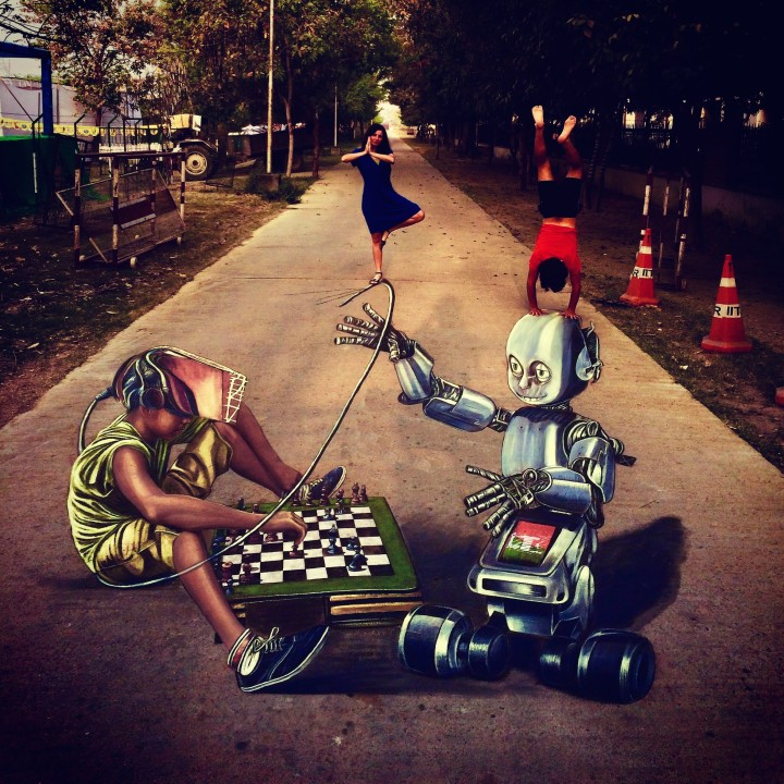 3D Art @ Techkriti '17! India's magic came