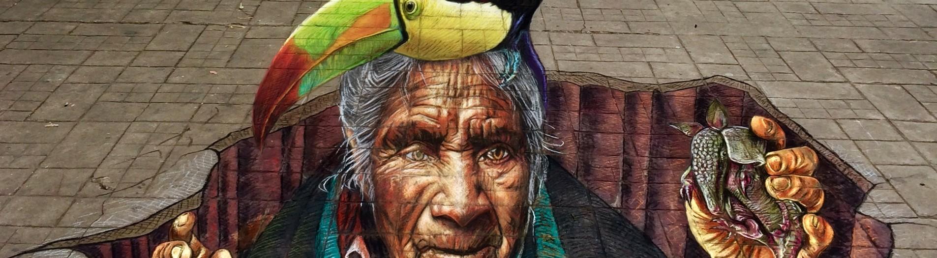 My anamorphic 'Diosa indígena' at Colores de Chiapas 2018!