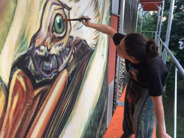 verabugatti streetart murals walls arteurbana illusioniottiche 3Dstreetart anamorfosi arte3D siamodipassaggio abnegationdream christ pelican vukovar vukovart