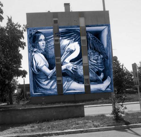 verabugatti walls urbanart arteurbana murales streetart mural urbanart wheredowecomefrom chisiamo dadoveveniamo 3Dstreetart anamorphoses 3D anamorfosi anamorfico chalk chalkart pavementart madonnari madonnari3D artedistrada artistidistrada illusioniottiche illusions arteurbana3D abnegation christ pelican vukovar croazia