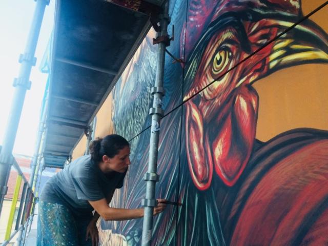 verabugatti streetart murals walls arteurbana illusioniottiche 3Dstreetart anamorfosi arte3D siamodipassaggio roots lysekil