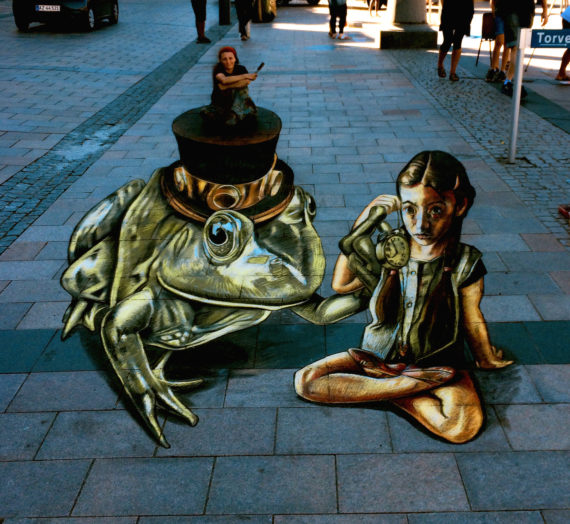 'Time is running out' my anamorphic pavement artwork in Denmark
