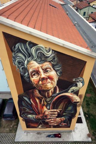 verabugatti streetart murals walls arteurbana illusioniottiche 3Dstreetart anamorfosi arte3D autaut bresc