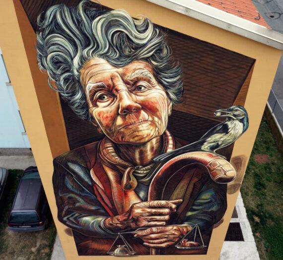 Aut Aut, my 6×12 mural in Brescia, Italy