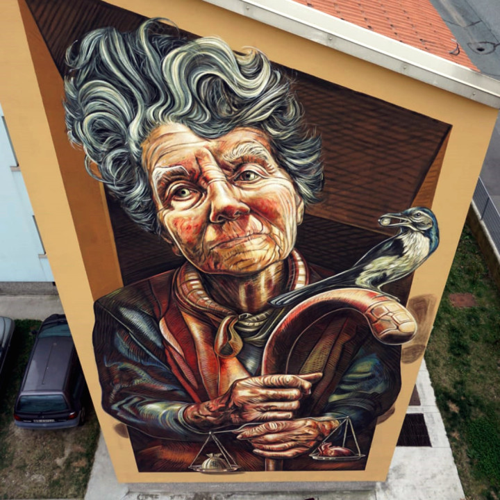 Aut Aut, my 6x12 m mural in Brescia, Italy
