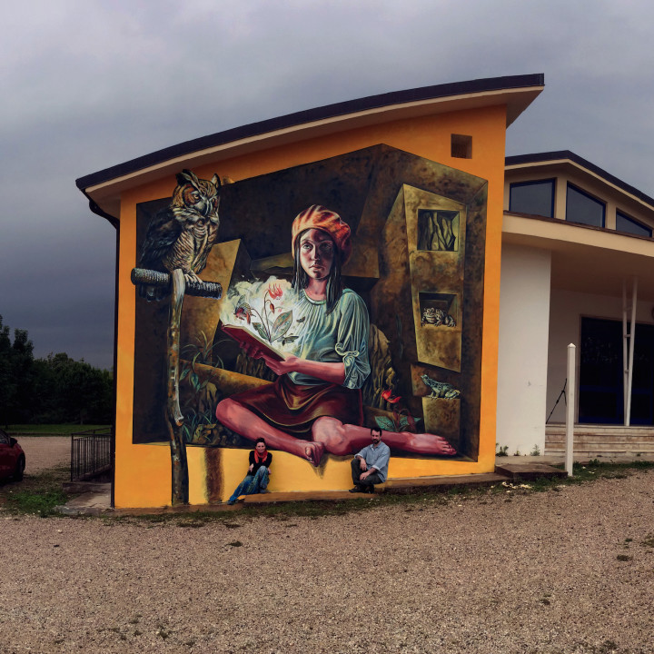 L'intuizione della luce (e dell'ombra), another wall in Italy, painted in the storm