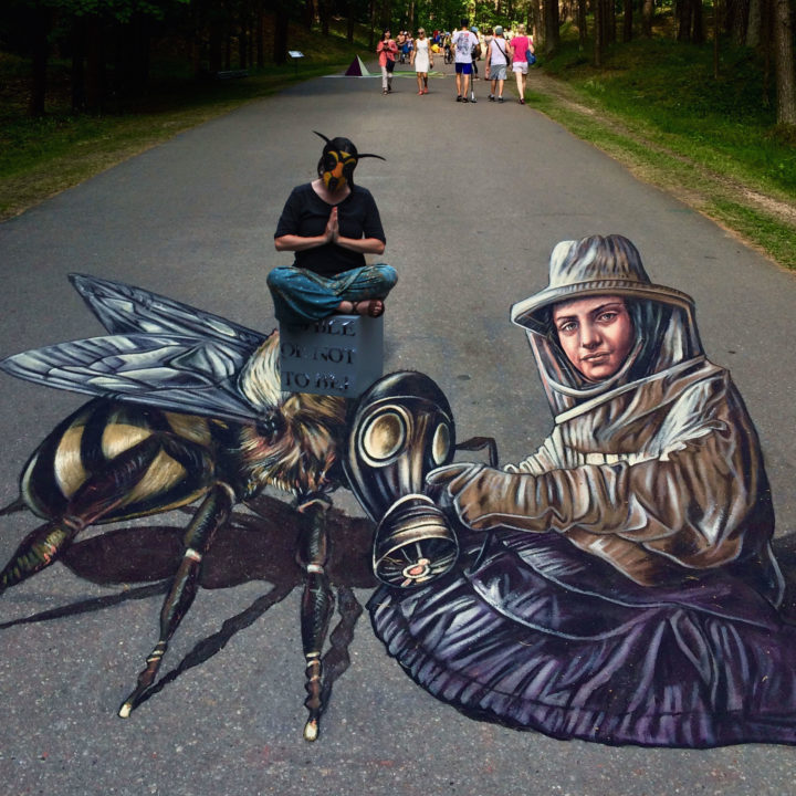 To 'bee' or not to 'bee' anamorphose in Riga