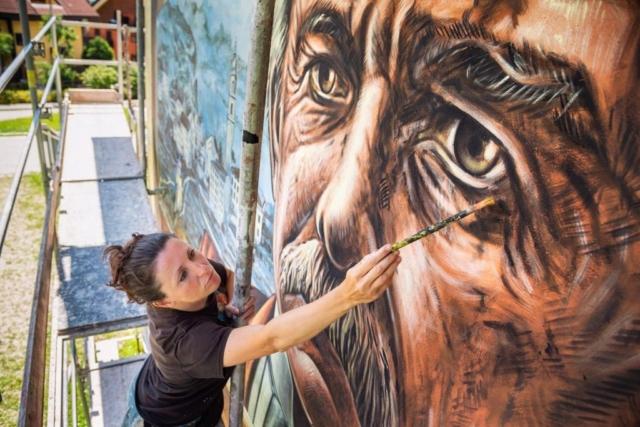 verabugatti streetart murals walls arteurbana illusioniottiche 3Dstreetart anamorfosi arte3D tonezza fogazzaro