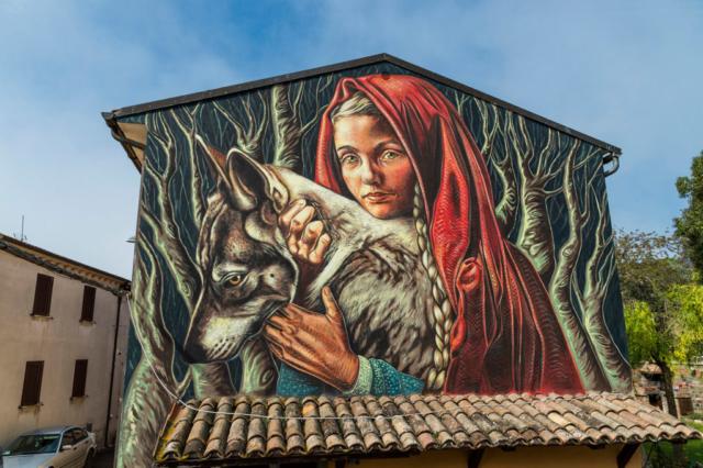 Vera Bugatti, L'Attenzione (Cappuccetto Rosso), Sant'Angelo di Roccalvecce (VT) 2021